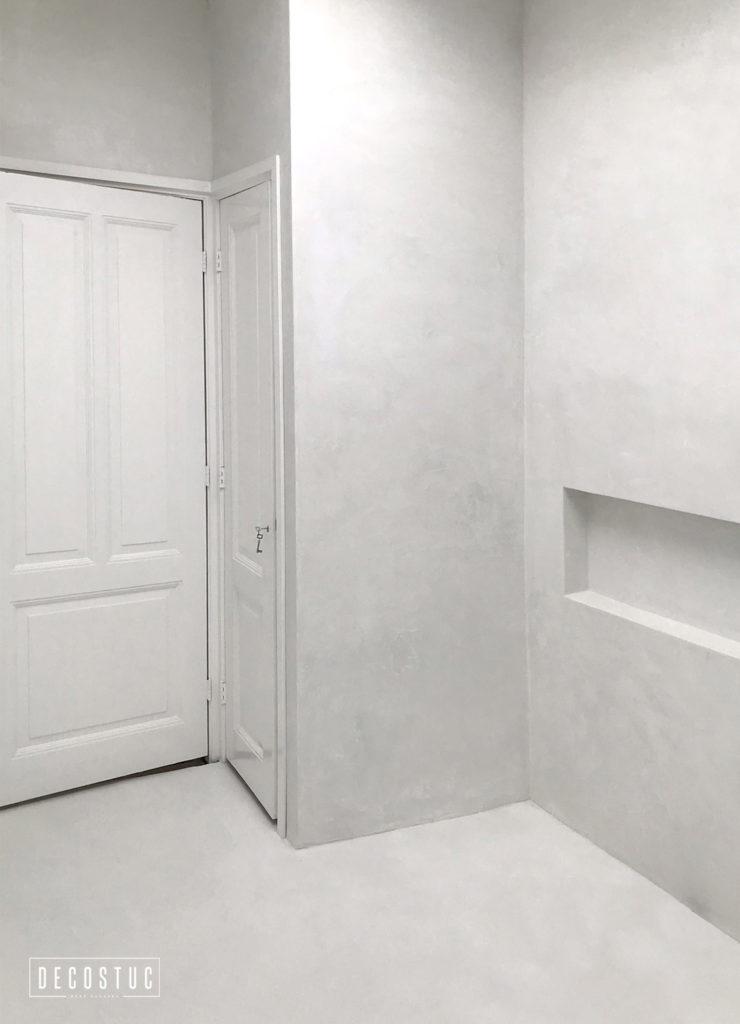 decostuc tilburg | decoratief stucwerk | beal mortex | beton look | wit
